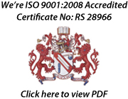 IS0 9001:2008 Accredited