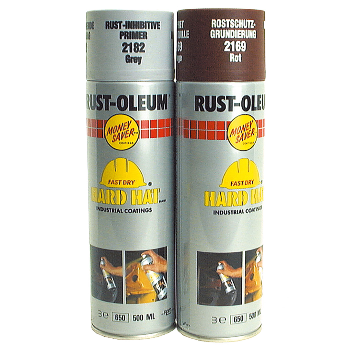 Primer 500ml - Rust-Oleum Hard Hat Spray - ParkerTools